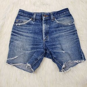 Vintage Lee Mom Distressed Jean Shorts